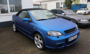 Opel Astra G Cabrio razor blau matt metallik