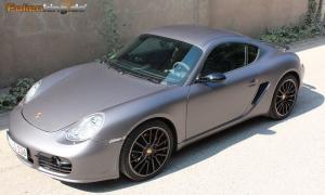 """Porsche Cayman: Vollfolierung in """"grau matt metallik"""""""