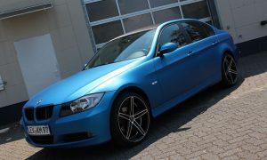 BMW E90 razor blue matt metallik