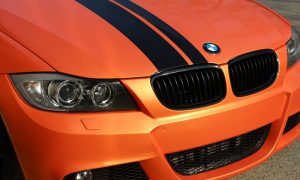 BMW E90 bright orange glänzend