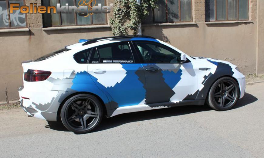 Bmw X6m Vollfolierung Inkl Camouflage Folienking De