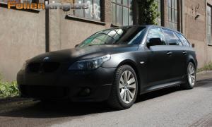 """BMW E61: Vollfolierung in """"schwarz matt"""""""