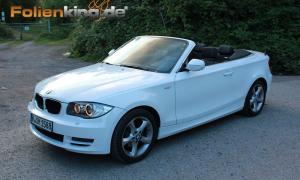 """BMW 1er Cabrio: Vollfolierung in """"weiß glänzend"""""""