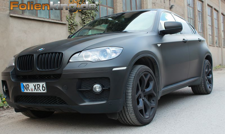 bmw x6 vollfolierung in schwarz matt. Black Bedroom Furniture Sets. Home Design Ideas