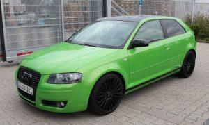 "Audi A3 8P: Vollfolierung in ""Java Green metallik"""