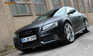 Audi A5 Coupe in schwarz matt