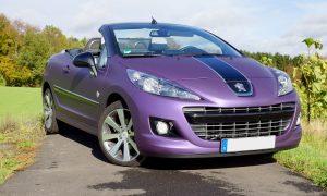 Peugeot 207 bright purple matt metallik