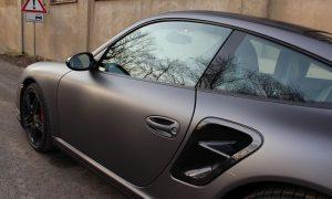 """Porsche 997: Vollfolierung in """"charcoal matt metallik"""""""