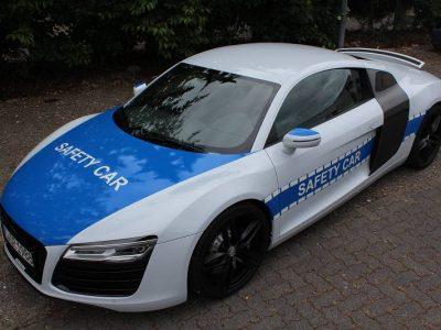 """Audi R8: Beschriftung im """"Safety Car"""" Design"""