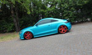 Audi TTRS in atomic teal